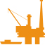 Oil gas rig - orange icon
