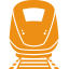Rail train - orange icon